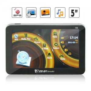APK Processor 4GB Memory 5 Inch HD Touchscreen GPS Navigation